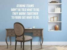 "Wall Quote ""Work Together..."" Motivational Sticker Leader Decal Decor Transfer"